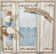 A beautiful card by Marianne, featuring the Shoreline Treasures collection