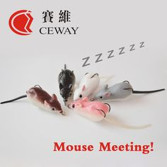 Mouse Lure Fish Tackle Artificial Lure Frog Bait Snakehead Killer Floating Soft Frog Fishing Lures Soft Rat Lure FREE SHIPPING