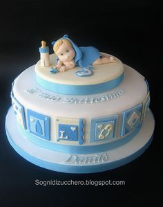christening cake by Sogni di Zucchero, via Flickr