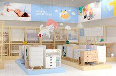 © BRANDEXPERT Freedom Island. Interior design for kids store.  Разработка концепции дизайна интерьера магазина «Купи коляску», секция мебели для детской