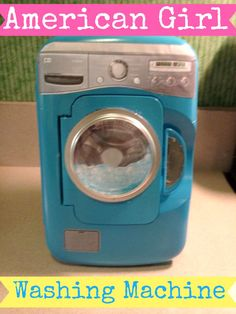 Little Known Ways to Make Doll Clothes Yourselves American Girl Washing Machine American Girl House, American Girl Crafts, American Girl Doll Things, American Girl Storage, Ag Doll House, Doll Houses, Ag Doll Crafts, American Girl Accessories, Doll Accessories