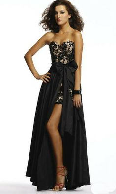 sexy evening gown with Detachable Skirt | Sexy lace evening dress skirt removable - US$ 82.1