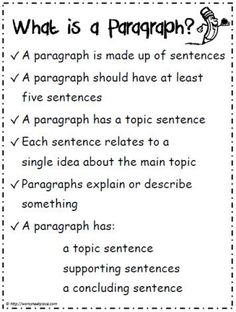 -WRITING PARAGRAPHS- FREE 10 Paragraph Writing Printables~ Resources include a paragraph poster, prompts, worksheets, and checklists. Writing Strategies, Writing Lessons, Teaching Writing, Writing Skills, Writing Activities, Essay Writing, Writing Tips, Teaching Paragraphs, Writing Rubrics