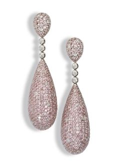 De Grisogono pink drop earrings