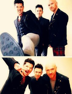 While Danny is acting like a weirdo, Mark and Glen are just standing there looking normal. Hahaha :)
