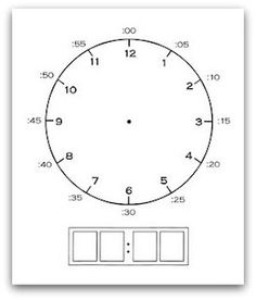 "Post next to classroom clock with class ending times to reduce ""What time do we leave? Relentlessly Fun, Deceptively Educational: Complete-A-Clock Printable Teaching Time, Help Teaching, Teaching Math, Math Classroom, Kindergarten Math, Classroom Clock, Math Clock, Clock Printable, Free Printable"