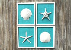 LARGE Beach Wall Art 8 3/4 x 10 3/4 Inch by OMearasCottageCharm