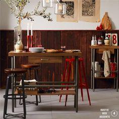 Rustic-industrial dining