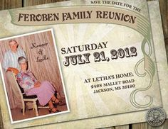 Family Reunion Save the Date Invitation by HydraulicGraphix