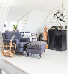 Une ferme suédoise au design vintage et industriel - PLANETE DECO a homes world