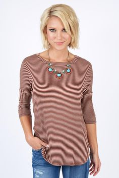 Frisco Stripe Top by Evereve | The #1 boutique for moms! $5 Flat Rate Shipping + FREE shipping on all orders over *$50. #Evereve