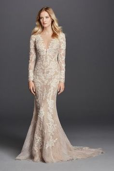 Do you dream of wearing a long sleeve wedding dress on your big day? Shop David's Bridal wide variety of wedding gowns with sleeves in lace & other designs! Wedding Guest Outfits Uk, Wedding Dress Sizes, Wedding Bridesmaid Dresses, Designer Wedding Dresses, Wedding Attire, Designer Gowns, Bridal Gowns, Wedding Gowns, Lace Wedding