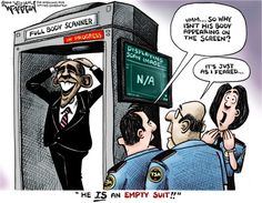 Obama is an Empty Suit [Cartoon]