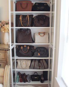 9 Best Purse Closet images | Handbag storage, Bag closet, Bedrooms