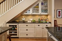 Awesome Mini Home Bar Under Stairs For Chic Space To Have A Drink : Maximizing Limited Space in Awesome Way with Mini Bar Under Stairs 2015 Ideas