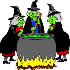 Witch cooking goodies in her cauldron. Free halloween animations plus halloween clipart. Animated witches with their brooms and cauldron. Witches Cauldron, Witches Brew, Felt Board Patterns, Halloween Clipart, Bowser, Batman, Clip Art, Animation, Superhero