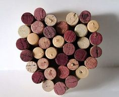 Wine Cork Heart Wall Hanging - wine plus hearts equal instant romance :-)