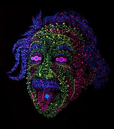 Albert Einstein tongue out psychedelic t-shirt by Andrei Verner Einstein Tongue, Chill, Wedding Makeup Tutorial, Face Sketch, Sketch Drawing, Psy Art, Vape Tricks, Psychedelic Art, Albert Einstein