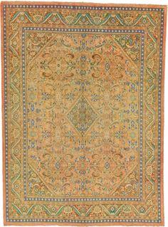 Peach 9' 6 x 13' 0 Farahan Rug   Persian Rugs   eSaleRugs