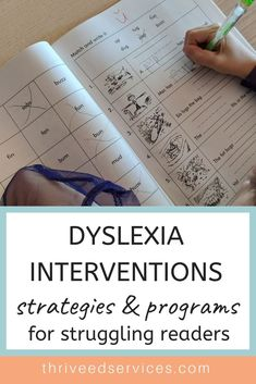 Highly effective dyslexia interventions and programs for educators and parents. Learn how you can help your dyslexic students today. Dyslexia Activities, Dyslexia Strategies, Dyslexia Teaching, Learning Disabilities, Teaching Strategies, Multiple Disabilities, Reading Help, Reading Skills, Reading Intervention Strategies