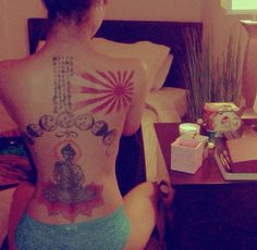 Jhene Aiko's Tatted Back
