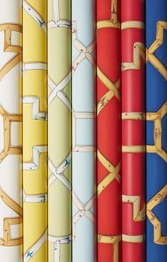 Scalamandre Baldwin Bamboo wallpaper and fabric