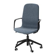 LÅNGFJÄLL Swivel chair, Gunnared blue, black Gunnared blue black