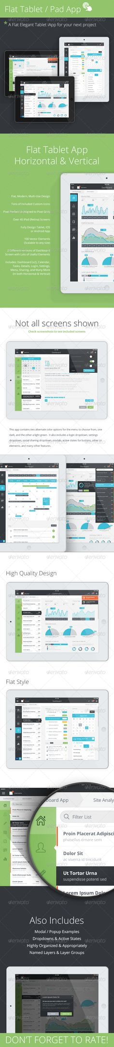 Tablet App & Mobile Dashboard - User Interfaces Web Elements