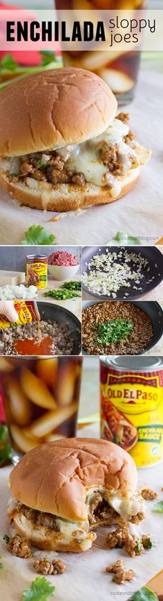 Enchilada Sloppy Joe Recipe - Not your typical sloppy joe recipe, these sloppy joes have an enchilada twist with delicious tex-mex flavors.