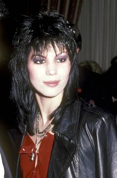 Musician Joan Jett attends Michael Jackson's Party on February 7 1984 at The Museum of Natural History in New York City