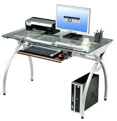 modern tempered glass desk