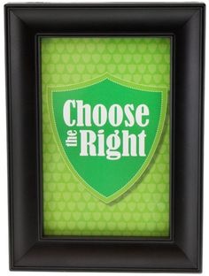 FREE Choose the Right printable in multiple sizes!