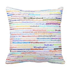 West Hartford Text Design II Throw Pillow