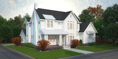 4 Bed Modern Farmhouse Plan - 25406TF | Country, Farmhouse, 1st Floor Master Suite, Bonus Room, Butler Walk-in Pantry, Den-Office-Library-Study, In-Law Suite, Jack & Jill Bath, Corner Lot | Architectural Designs