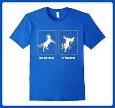 Mens Unicorn Pole Dance Your Girlfriend My Girlfriend T Shirt Large Royal Blue - Fantasy sci fi shirts (*Amazon Partner-Link)