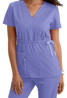 ViVi by Med Couture Mia crossover scrub top. Main Image