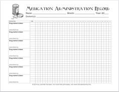 Home Medication Chart Template Free Daily Medication
