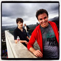 Hangin with ma' Mates. Dan and Jake - Griffith Observatory.