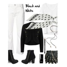 """""""Black and White'"""" by dianefantasy ❤ liked on Polyvore featuring Nili Lotan, Gap, River Island, Rockins, GUESS by Marciano, Mudd, NYX, Chanel, polyvorecommunity and polyvoreeditorial"""