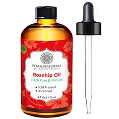 PiYAA Naturals Rosehip Oil - 100% Pure Cold Pressed Unrefined rosehip seed oil for Face, Nails, Hair and Skin, 4 oz -- You can get more details by clicking on the image. (This is an affiliate link and I receive a commission for the sales)