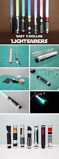 Perfect method that balances maximum coolness with minimum cost and ease of making. #StarWars #HalloweenProp #LightSaber