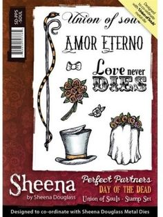 Sheena+Douglass+Perfect+Partners+Day+of+the+Dead+A6+Unmounted+Rubber+Stamp+-+Union+of+Soul