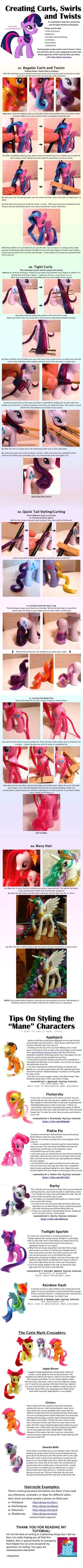 Kawaiimo's Pony Hair Styling Guide 2/2 by ~kawaiimo on deviantART