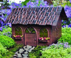The Fiddlehead Miniature Fairy Garden Solar Fairy House