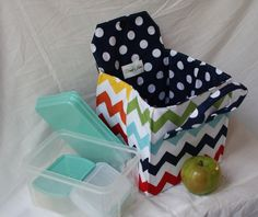 Delight yourself in a fun sewing project to create an adorable lunch bag that will get plenty of use. This makes a great gift for friends, family and teachers. AVAILABLE FOR INSTANT DOWNLOAD!!! THIS IS A PDF PATTERN!!! This pattern is designed to create a lunch bag that will handle wide and flat boxes whether they be Bento boxes, reusable containers or frozen meals. The two handles provide balance and convenience when carrying and the insulated batting will help keep food cool and safe. The…