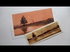 Salida al campo para pintar / creando textura con raspado - YouTube
