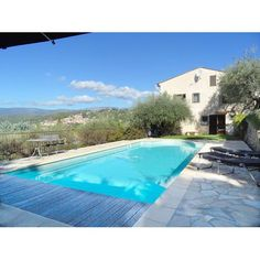 Les Oliviers a spacious  5 bedroom villa with panoramic views.  Heated pool. Great for large groups or extended families. Quality villa rental south of France.