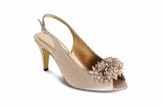 satin peep-toe slingback shoe taupe bead flower detail reapshop lunar At checkout add code for a amazing off all ‪ ‪ ‪ ‪ ‪ ‪ ‪ ‪ Slingback Shoes, Heels, Evening Shoes, Wedding Season, Personalized Gifts, Taupe, Peep Toe, Bead, Belfast