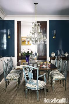 Fancy French Country Dining Room Design Ideas - Beautiful Fancy French Country Dining Room Design Ideas, Chairs Impressive Farmhouse Dining Chairs with astounding Classic French Country Interiors, French Country Dining Room, Country Interior Design, Home Interior, Country Living, Country Farmhouse, Interior Paint, Luxury Dining Room, Dining Room Design