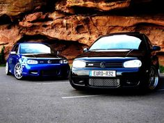 Golf IV R32's showing off.